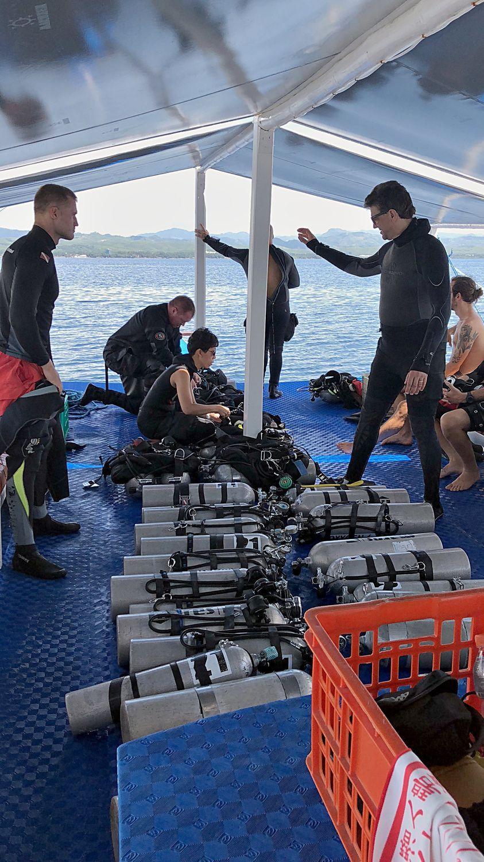 Tony, Anita, and Mark enjoyed 2 fantastic dives at the MV