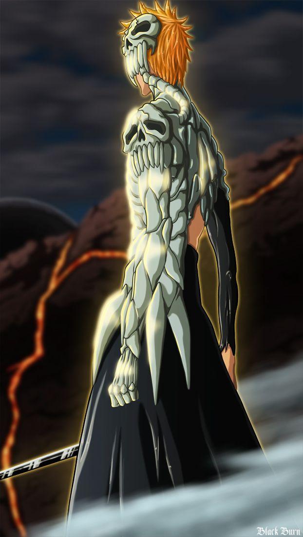 skull clad ichigo by bl4ckburn deviantart com on deviantart