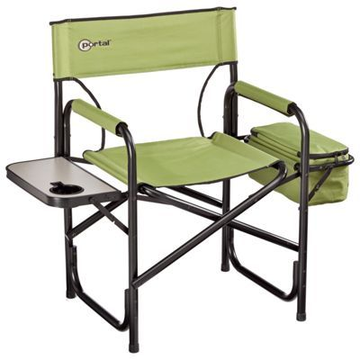 Portal Directors Chair W Side Table Cooler Folding Camping