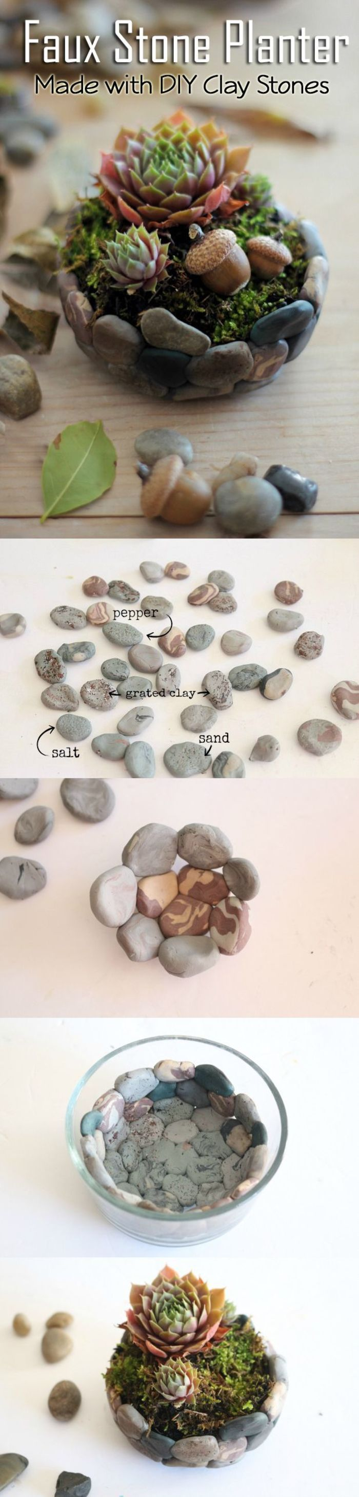 Clay succulents succulents pinterest diy stone planters and ideas