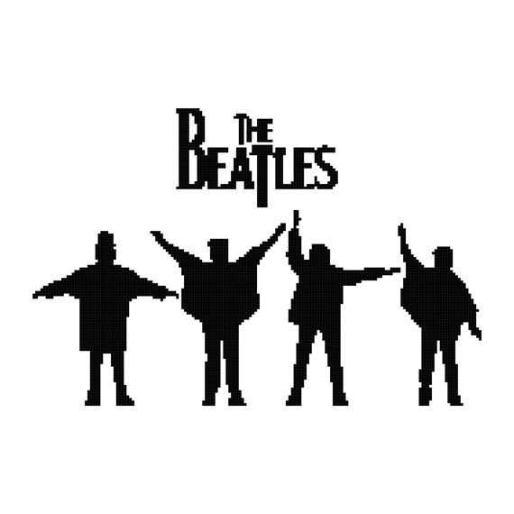 Cross Stitch Pattern The Beatles 2 Pdf Instant Digital Etsy In 2021 Beatles Art The Beatles Help Beatles Silhouette