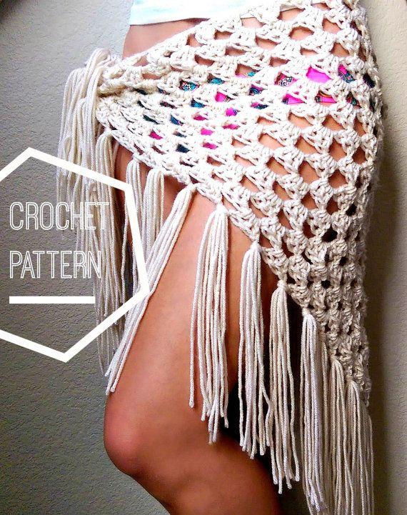 Crochet Boho Sarong Pattern Beginner Crochet Sarong Pattern Yarn