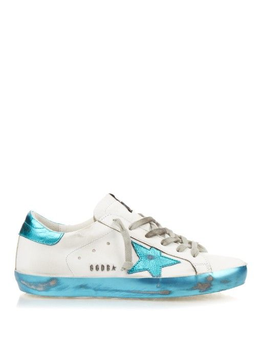 Golden Goose Deluxe Brand Super Star Sparkle low top leather