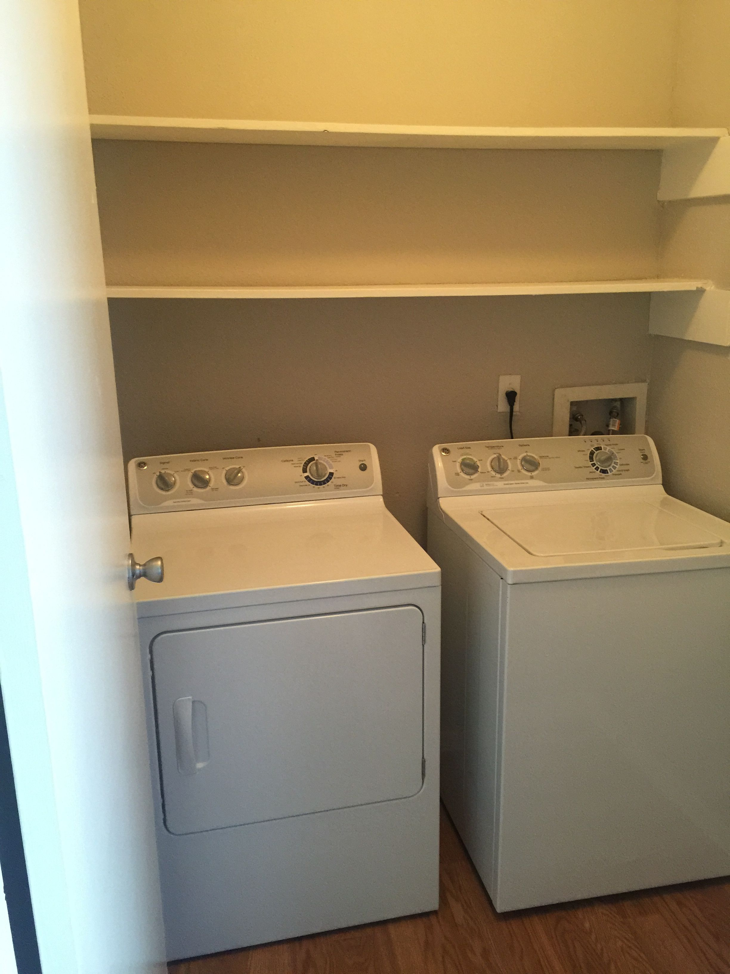 Full Size Washer And Dryer Connections In The Laundry Room Our Of B1 Floorplan At Spring Parc Apts 1 Bedroom Apartment Bedroom Apartment Houston Apartment