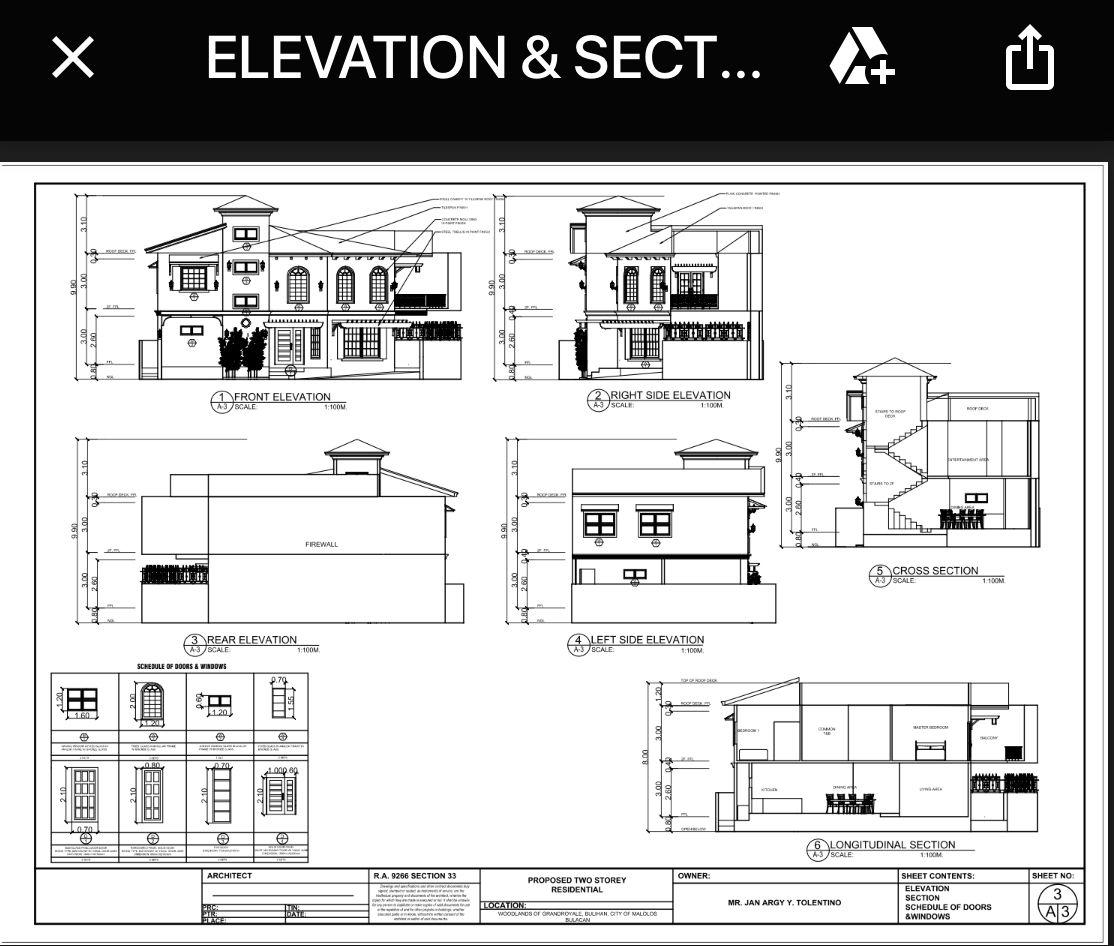 La Casa De Oya Elevation Plan