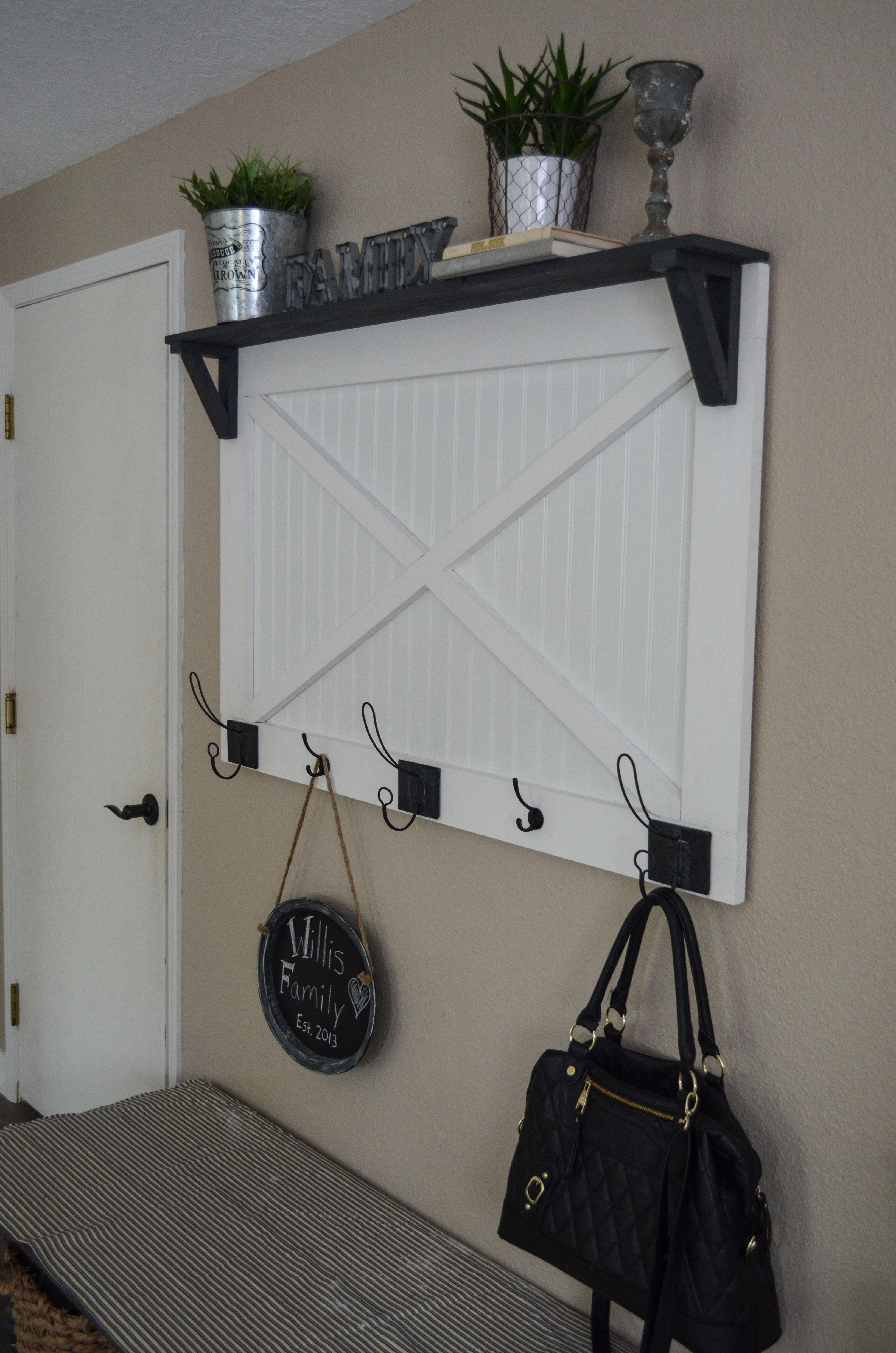 diy farmhouse coat rack with hobby lobby hooks barn door bead board