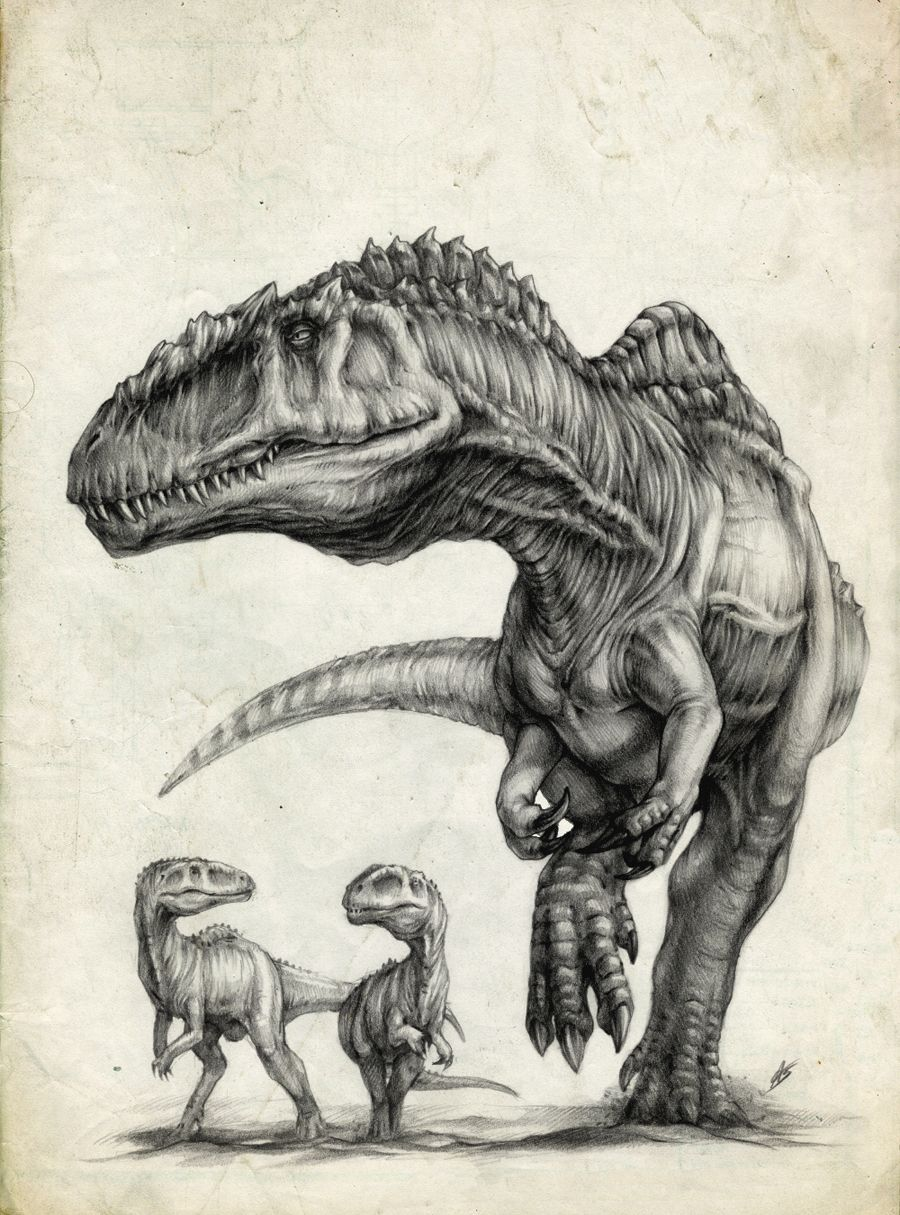 Mother and baby Carnosaurs. I feel like this is sooo me