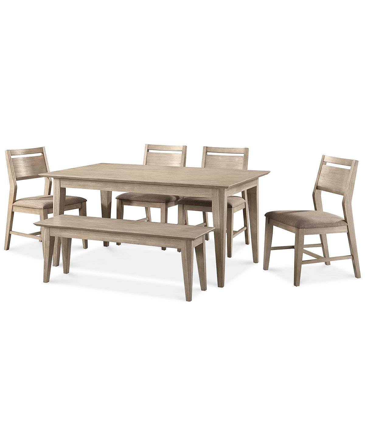 Kips Cove Dining Furniture 6 Pc Set Dining Table 4 Side Chairs