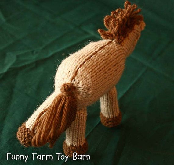 Cinnamon Baby Pony Girl's Stuffed Animal by FunnyFarmToyBarn, $42.00