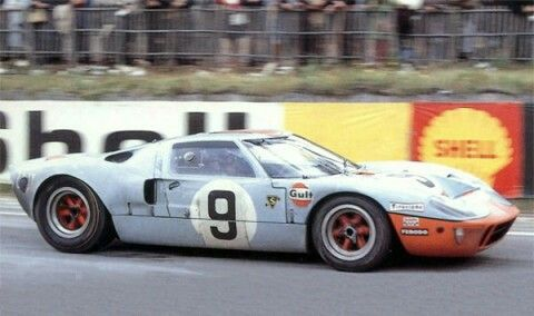 1968 Ford Gt40 Mki Lemans Gulf Livery No9 Ford Gt40 Ford Racing