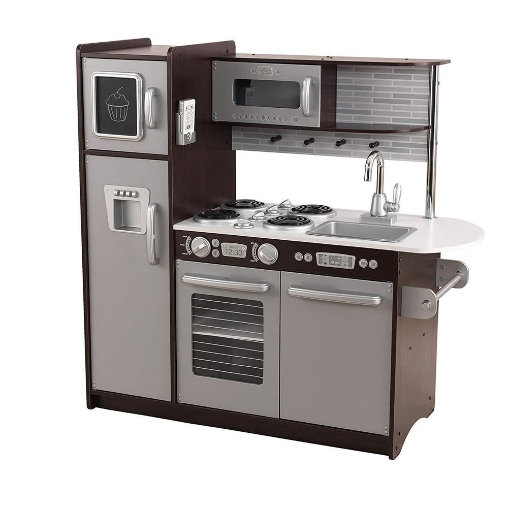 Melissa Doug Chefs Kitchen Pretend Play Set Charcoal In 2020 Kitchen Sets For Kids Uptown Kitchen Espresso Kitchen