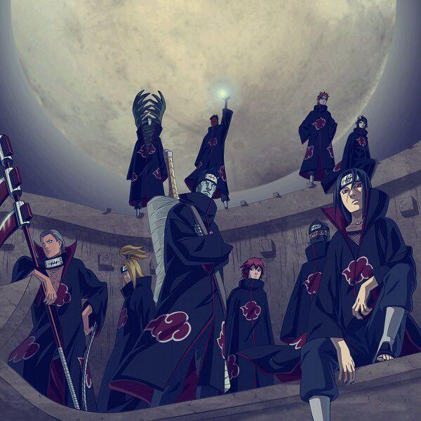 Akatsuki 暁 Literally Meaning Dawn Or Daybreak Was Initially An Organisation Created By Yahiko And His Two Comrades Konan A Akatsuki Naruto Images Naruto
