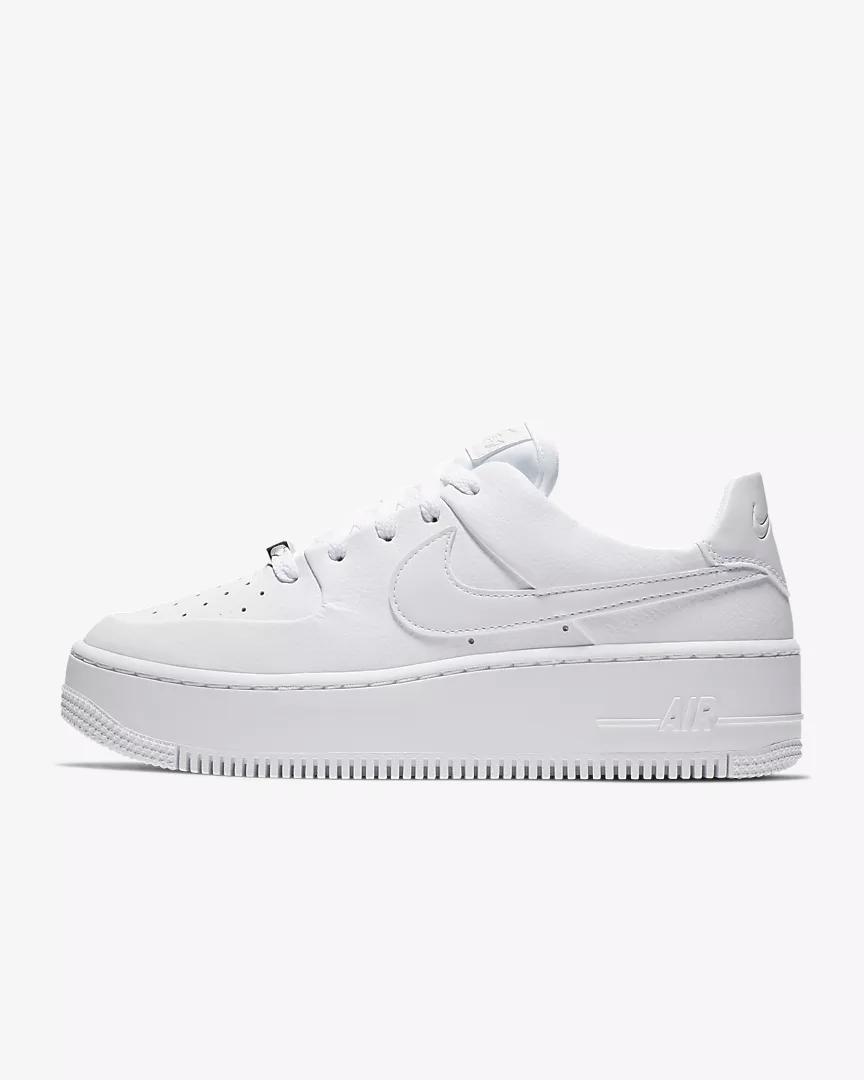 Nike Air Force 1 Sage Low Women S Shoe Nike Com Nike Air Force Nike Air White Leather Sneakers