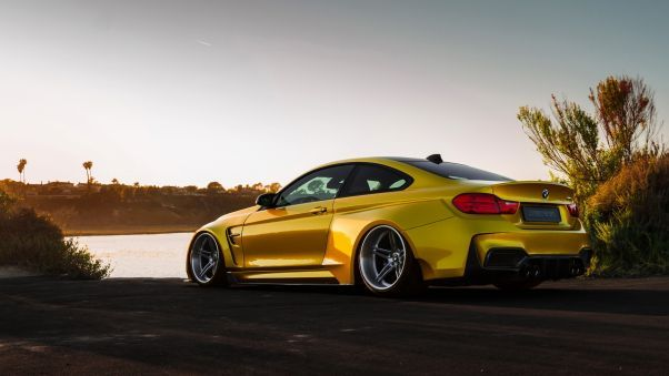 Bmw M4 Vorsteiner Gold Wallpaper Hd Wallpapers Bmw M4 Bmw