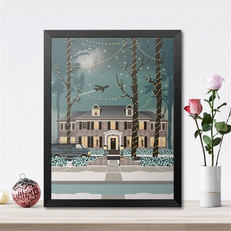 Home Alone Poster Wall Art In 2020 Picture Wall Poster Wall Art Kids Room Art