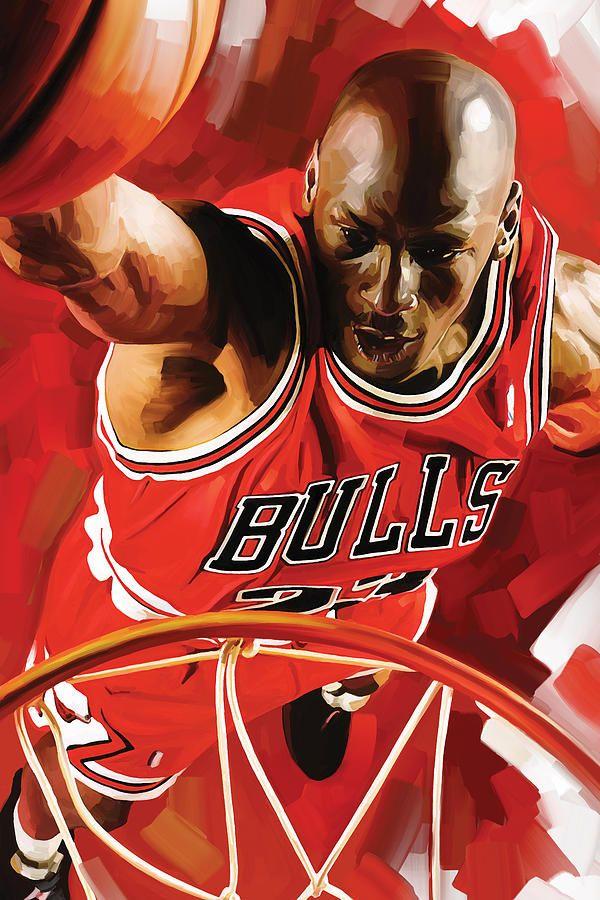 reputable site 8f638 66d83 Nba Painting - Michael Jordan Artwork 3 by Sheraz A