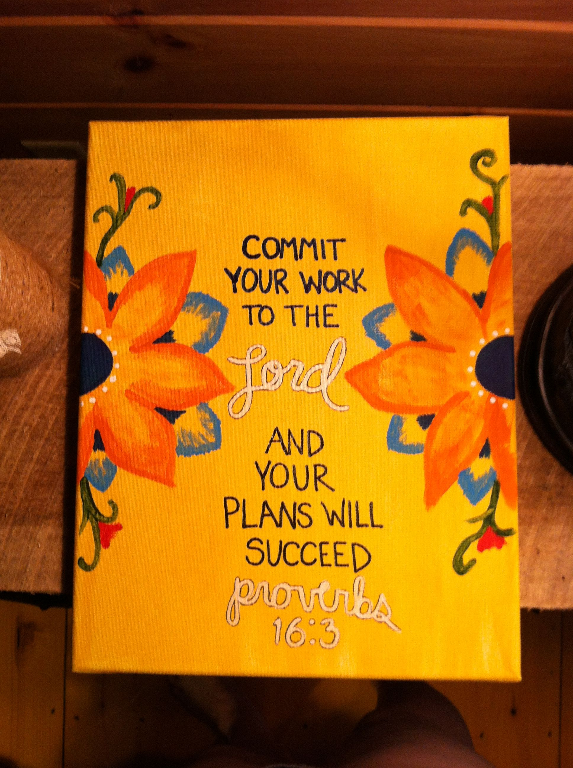 Bible Verse Painted Canvas Proverbs