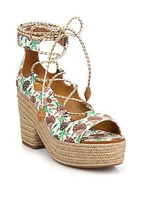 09a3687bb Tory Burch Positano Lace-Up Espadrille Platform Sandals - Antiquity ...
