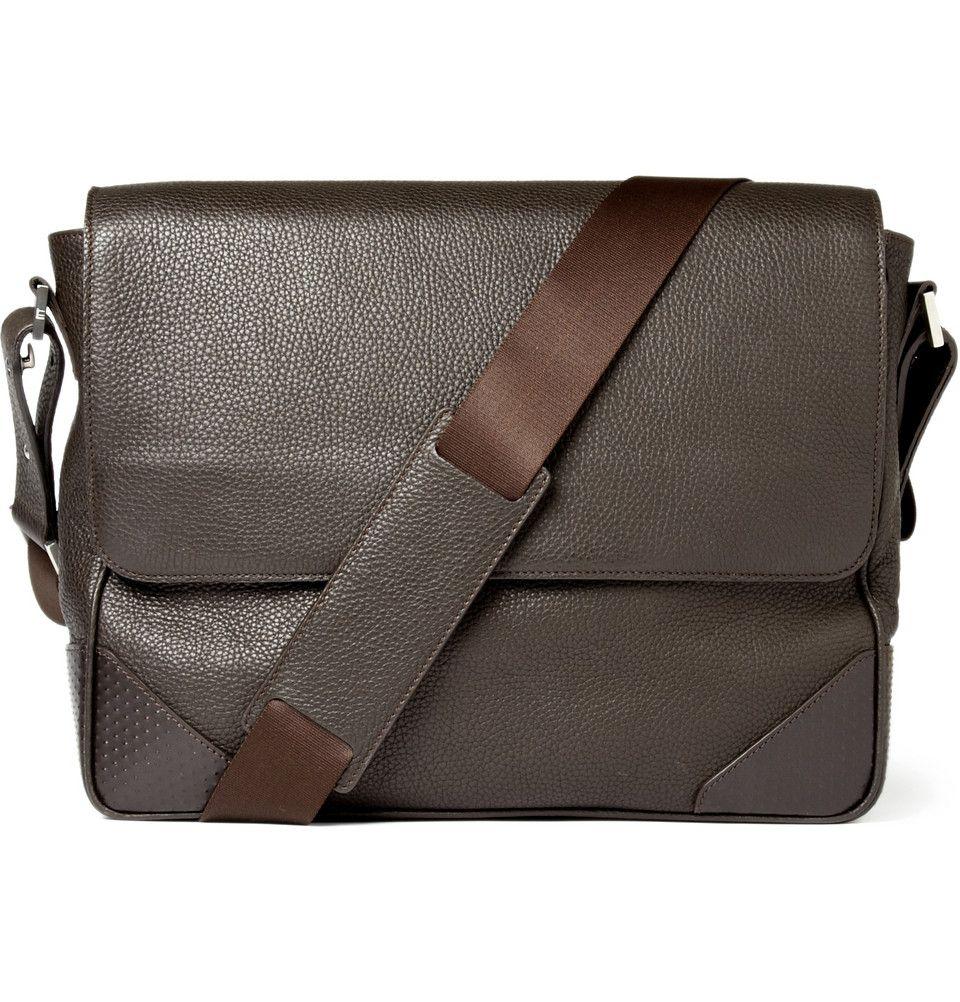 066bb99a489 Dunhill Leather Messenger Bag | MR PORTER | gents | Messenger bag ...