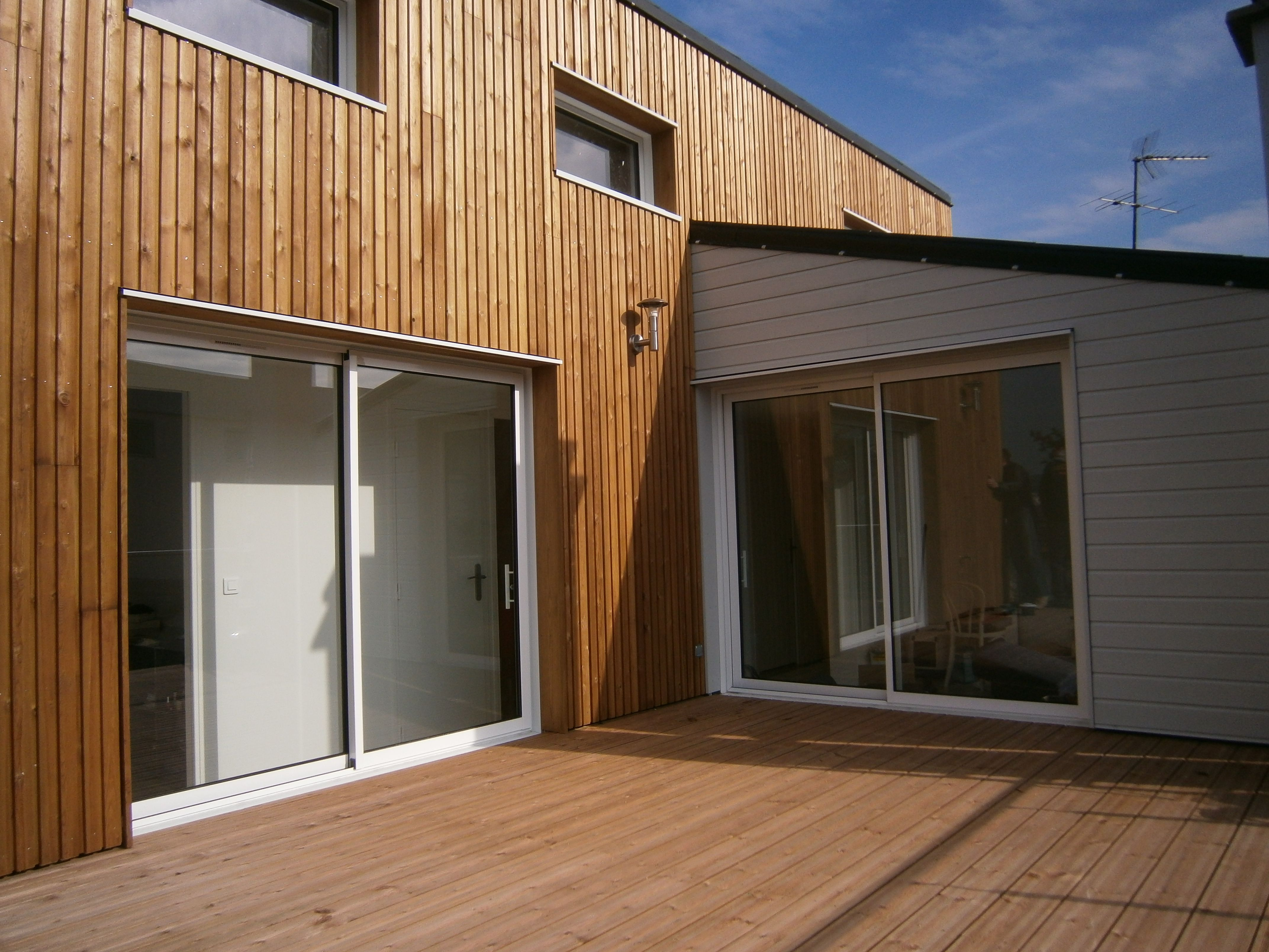 m2 et compagnie pierre labourdette architecture bois wood house sur l vation rueil. Black Bedroom Furniture Sets. Home Design Ideas
