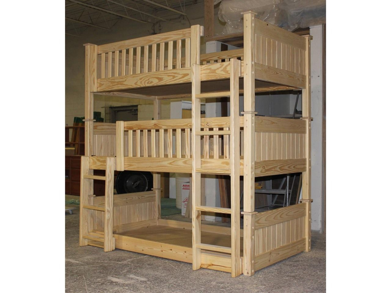Custom Triple Bunk Bed B64 The Bunk Loft Factory Pinterest