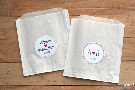 100 Custom Treat Bags / Favor Bags / Glassine Bags / Paper Bags / Wedding Favor / Cookie Bags / Custom Wedding Sticker on Etsy, $48.00