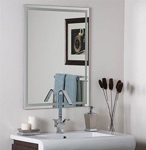 Decor Wonderland Frameless Etch Mirror In 2020 Mirror Wall Bedroom Black Wall Mirror Mirror Wall Living Room
