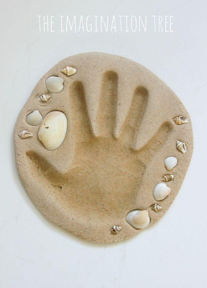 Sand Clay Recipe And Handprint Keepsakes Crafty Amp For
