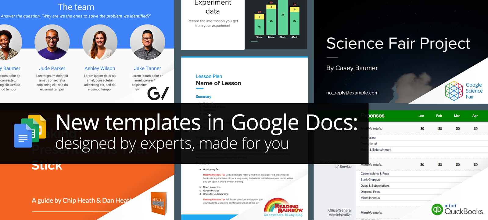 google introduces docs templates designed by experts pinterest
