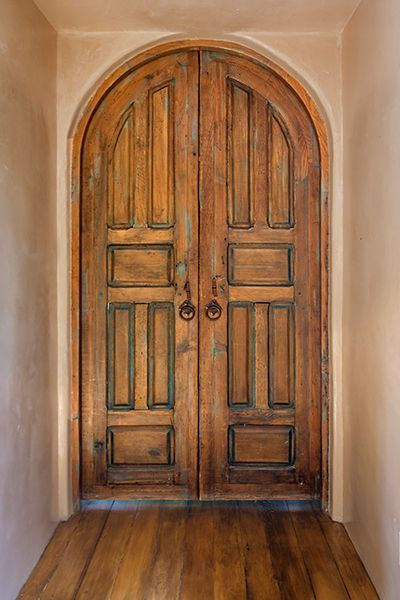 Arched Interior Door by La Puerta Originals Composed of two classic sixpanel antique Mexican