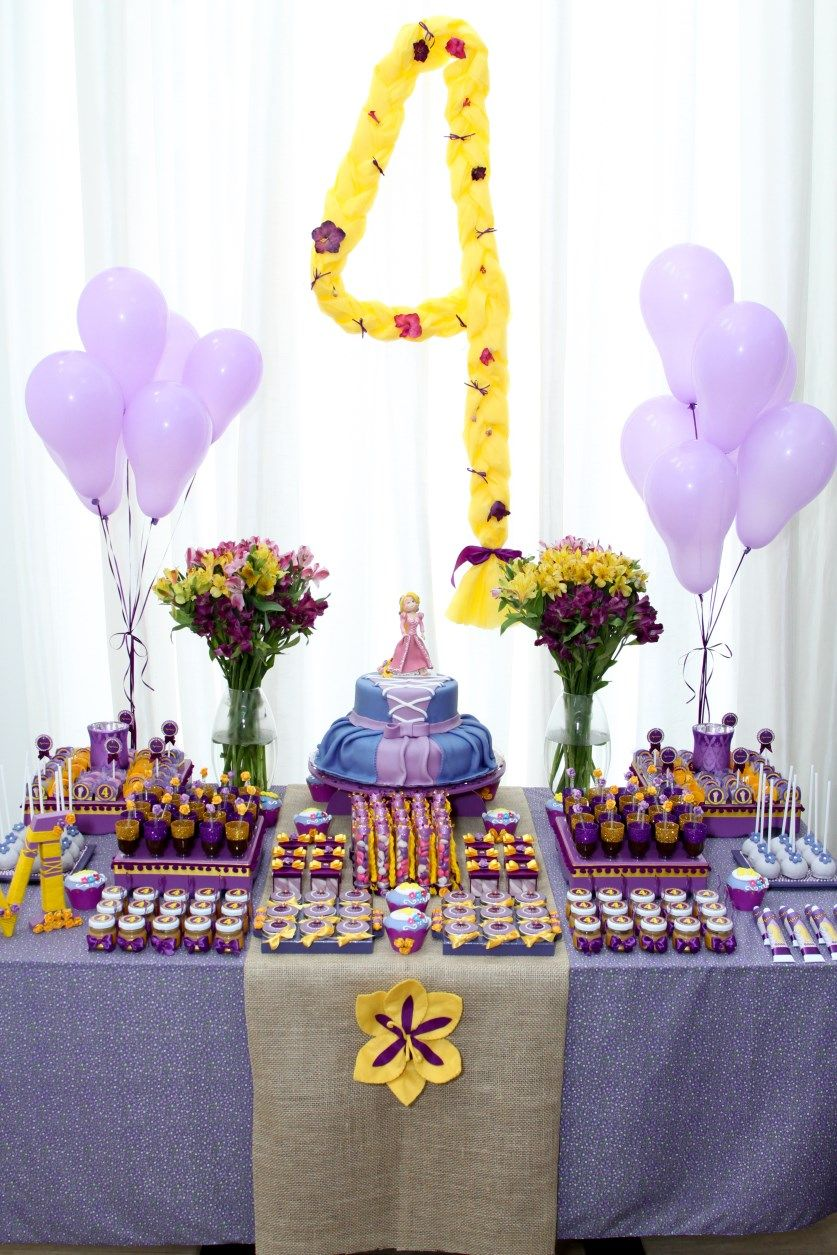 Mesa rapunzel by delicatto atelier party planning in - Mesas para cumpleanos infantiles ...
