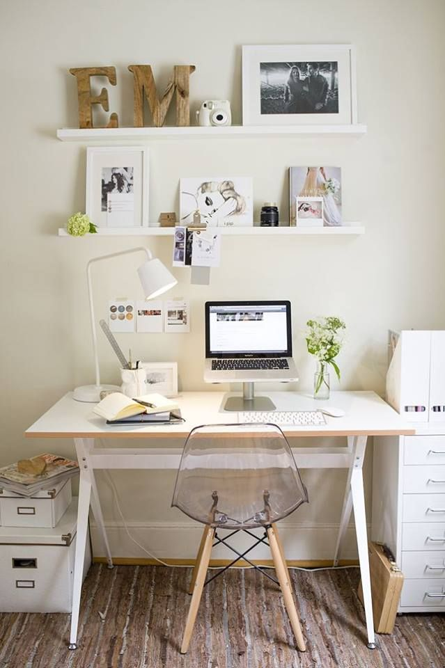 workplace white minimalistic | home/nature | Pinterest ...