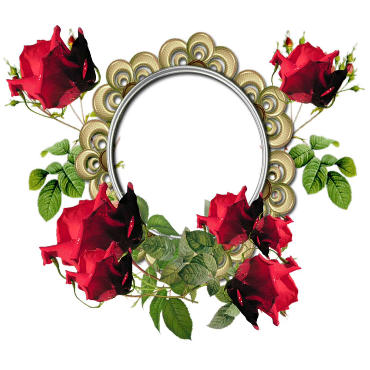 Oval flower border