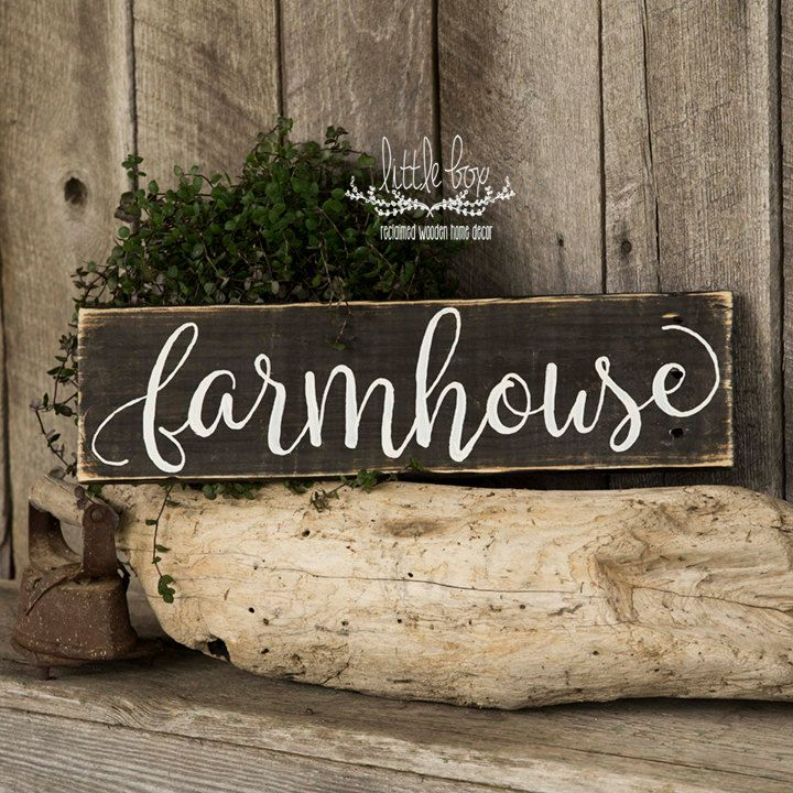 Script Farmhouse Sign-3 sizes available-14 color combinations (Background/Font Color).  Measures approximately: 20x5.5x1 with wire hanger on back 32x7.5x1 with wire hanger on back 40x11.25x1 with wire hanger on back  This beautiful sign will look great anywhere in your home! It can hang on a door o