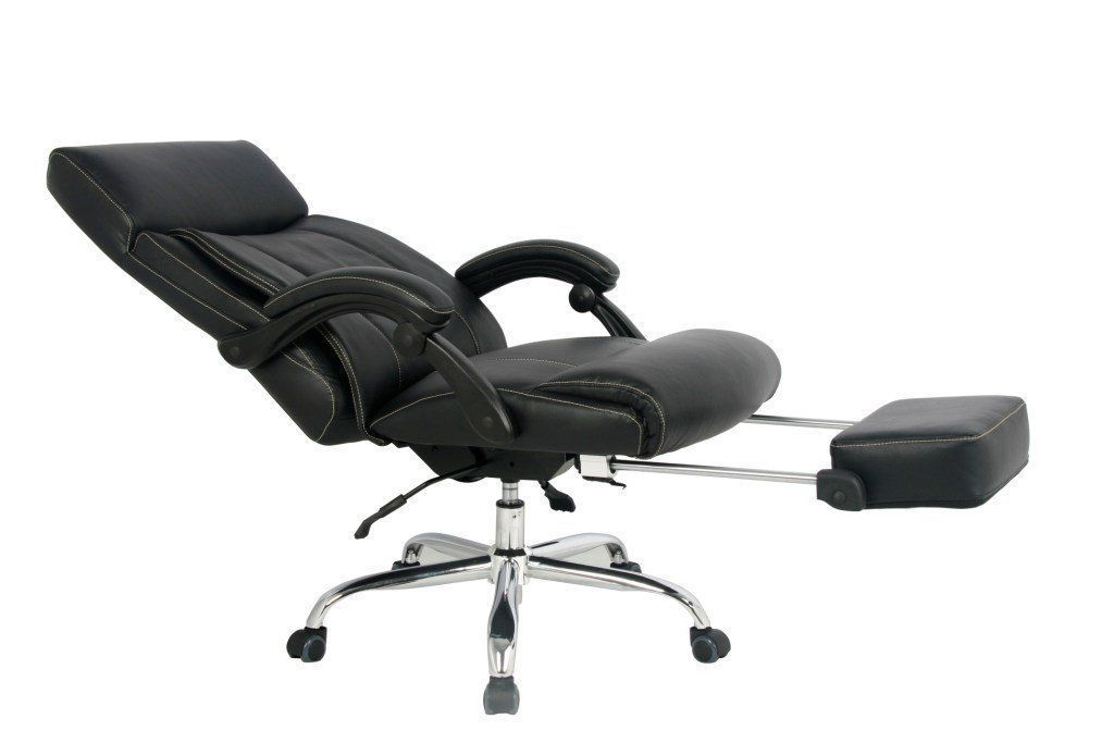 Viva Office High Back Bonded Leather Reclining Chair With Footrest
