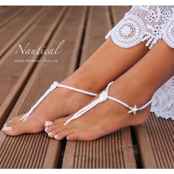 Nautical Bridal Foot jewelryRhinestone Starfish Beach wedding White