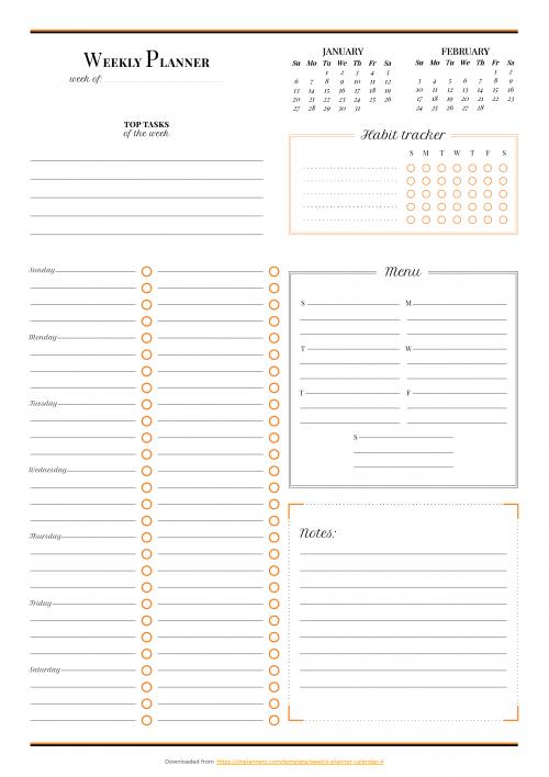 Weekly Planner Template Weekly Planner Template Free Weekly Planner Templates Daily Planner Pages