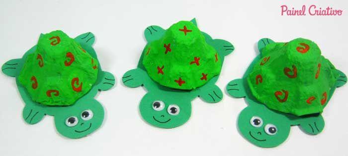 Reciclagem Bichinhos Tartaruga Atividades Escolares Crianca 2