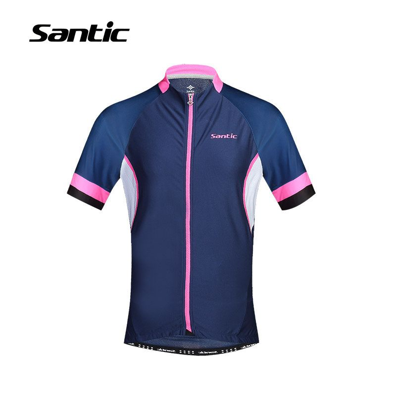 da9703dbd Santic Cycling Jersey Pro Team 2017 Breathable Road Mountain Bike Jersey  Mens Short Sleeve MTB Bicycle