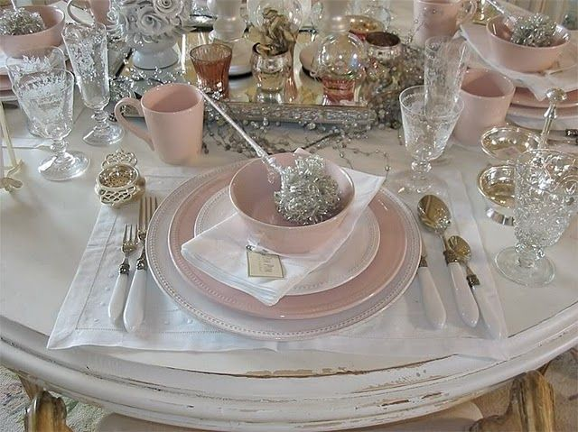 RACHEL ASHWELL And Her Shabby Chic Lifestyle Pink Table SettingsBeautiful