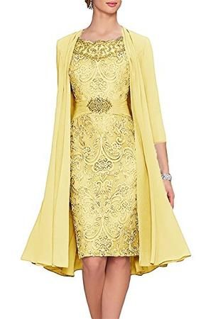Women's Tea Length Mother of The Bride Dresses Two Pieces with Jacket #area51partyoutfit
