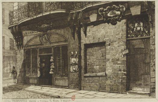 Rue des Prouvaires  Maison à l\u0027enseigne du Lion d\u0027argent Dessin