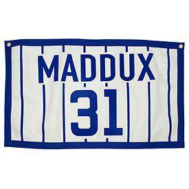 Chicago Cubs Greg Maddux Retired Number Flag Greg Maddux Chicago Cubs Cubs