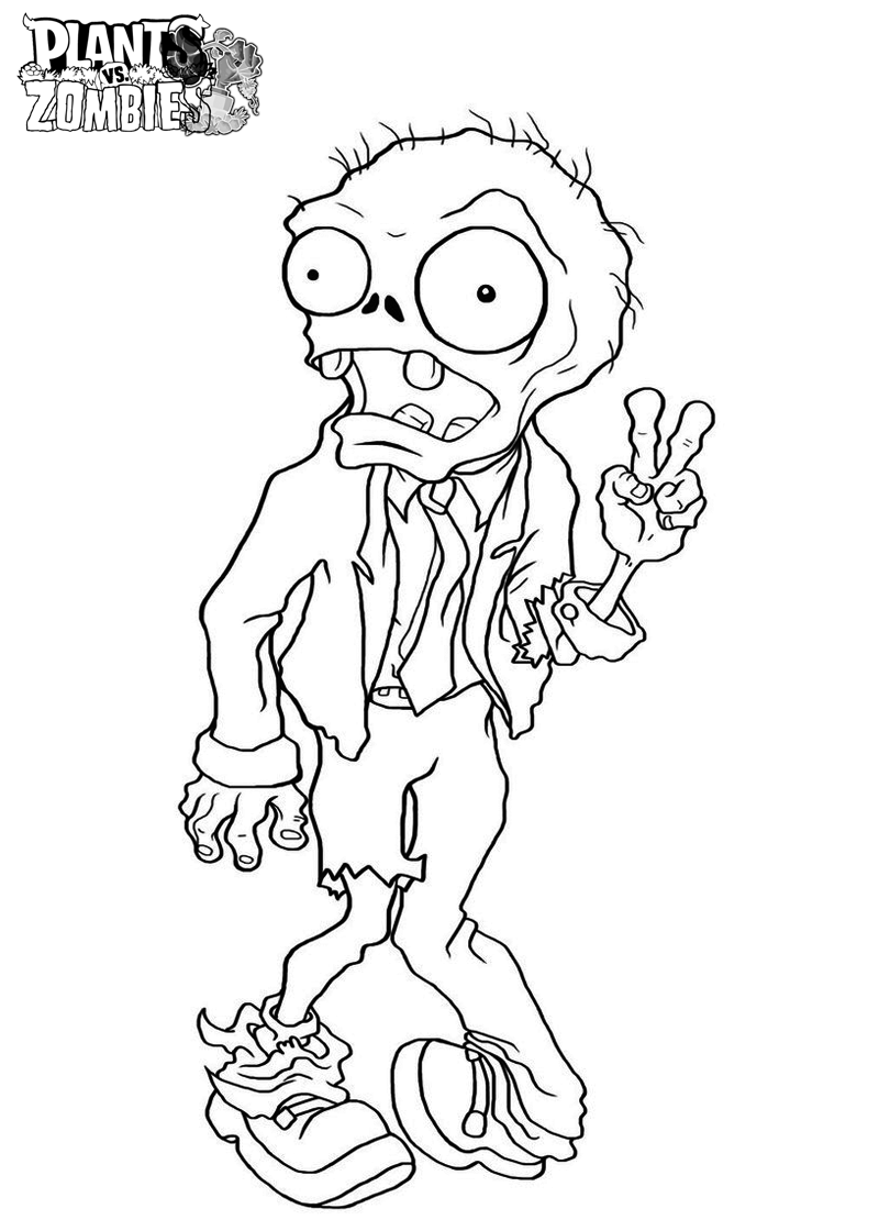 Printable coloring pages zombie - Free Printable Plants Vs Zombies Coloring Pages For Kids