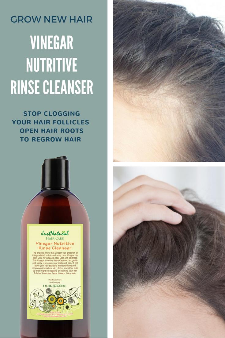 Vinegar Nutritive Rinse Cleanser Thin Hair Grow New