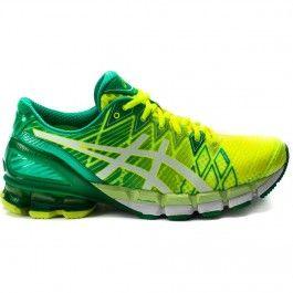 Asics Men S Gel Kinsei 5 Yellow White Green Running Shoes For