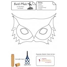 bastel maske eule kostenloser download kiga pinterest masken eule und kostenlos. Black Bedroom Furniture Sets. Home Design Ideas