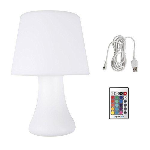 Cogex 493396 Lampe De Table A Pile Avec Telecommande Verre