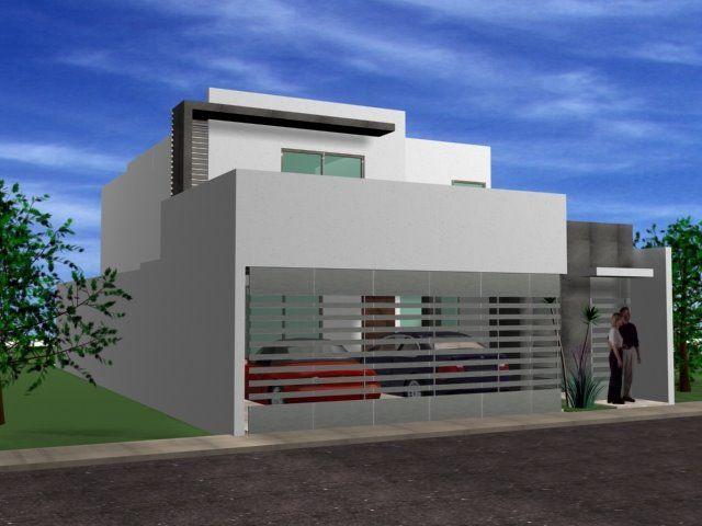 Decoraci n minimalista y contempor nea fachadas for Fachada de casas modernas con porton