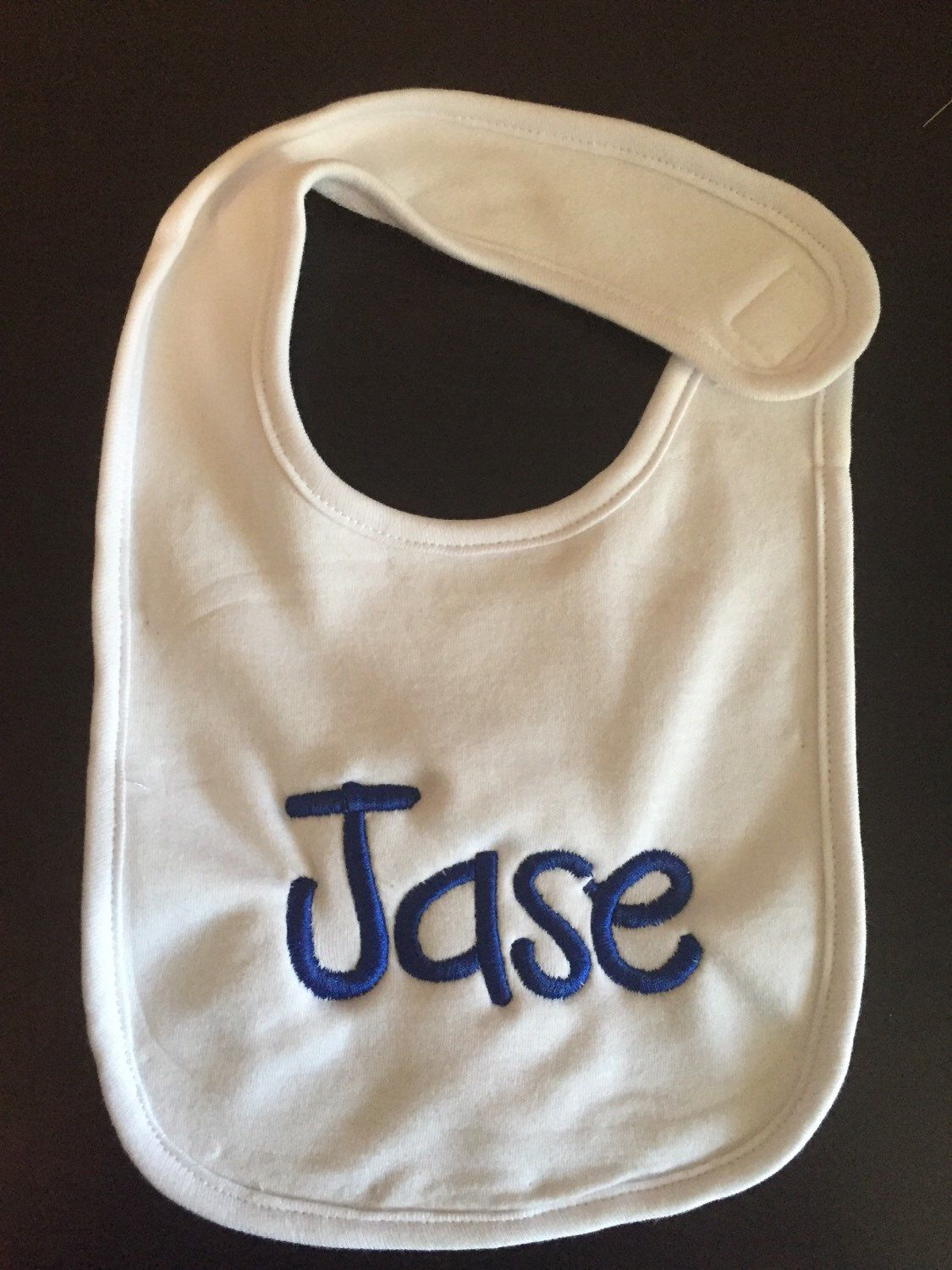 A personal favorite from my Etsy shop https://www.etsy.com/listing/259305213/monogram-baby-bib